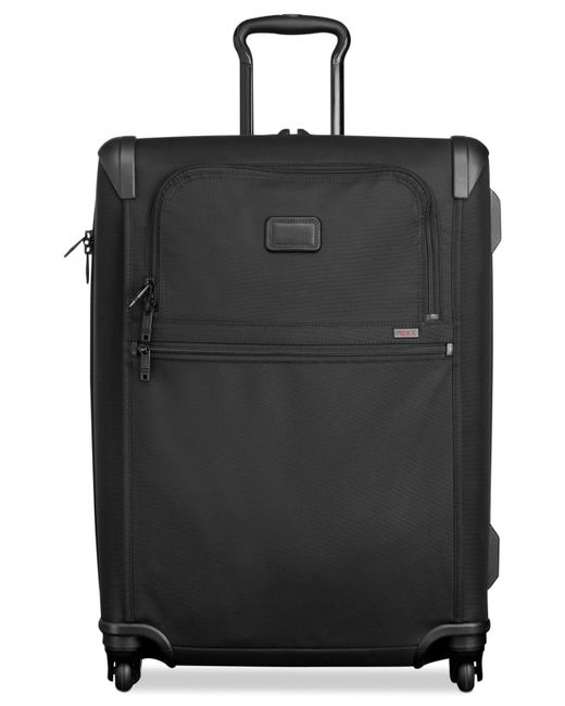 "Tumi | Black Alpha 2 26"" Short Trip Expandable Spinner Suitcase for Men 