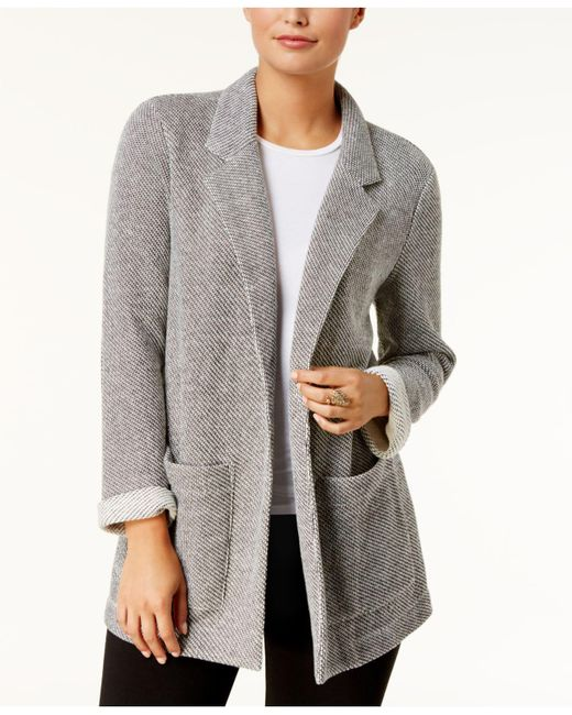 Style & Co.   Gray French Terry Blazer   Lyst