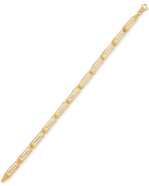 Macy's - Metallic Greek Key Link Bracelet In 14k Gold - Lyst