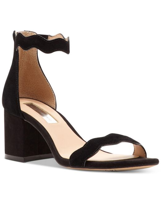 INC International Concepts - Black Hadwin Scallop Block-heel Sandals - Lyst