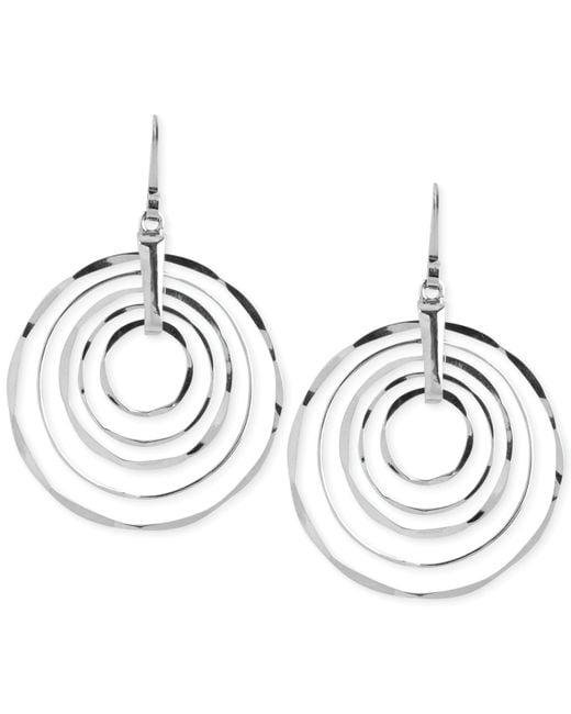 Robert Lee Morris | Metallic Silver-tone Hammered Ring Orbital Earrings | Lyst