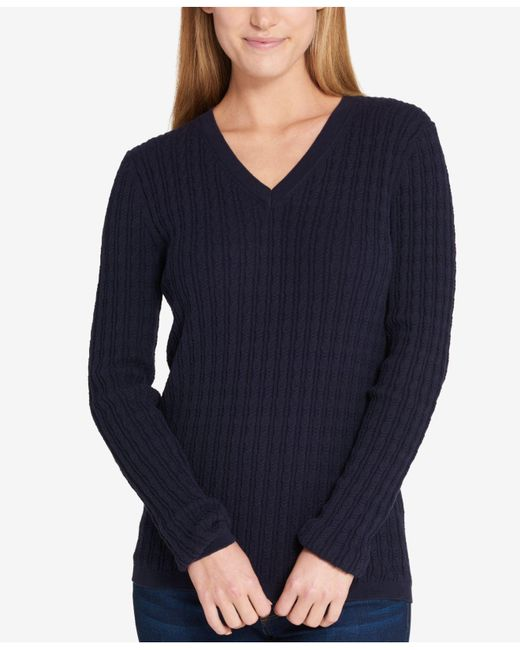 Tommy Hilfiger | Blue Cable-knit Sweater | Lyst