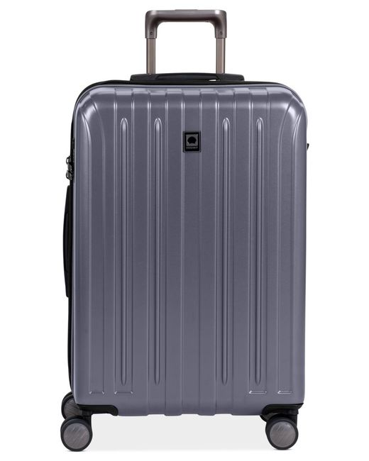 "Delsey | Gray Closeout! Helium Titanium 25"" Expandable Hardside Spinner Suitcase for Men 