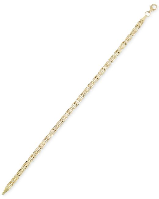 Macy's | Metallic Greek Key Chain Bracelet In 10k Gold | Lyst