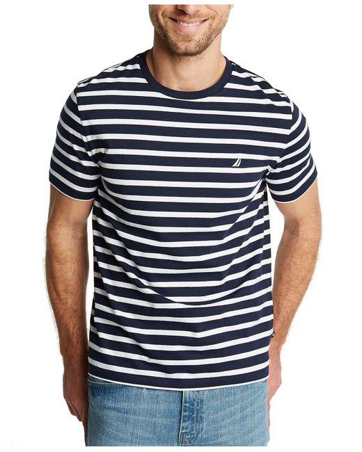 Nautica Blue Breton Striped T-shirt for men