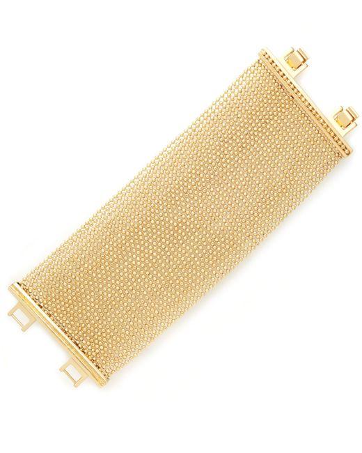 ABS By Allen Schwartz | Metallic Gold-tone Ball-chain Multi-row Flex Bracelet | Lyst