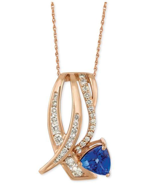 Le Vian | Orange Tanzanite (1 Ct. T.w.) And Diamond (5/8 Ct. T.w.) Pendant Necklace In 14k Rose Gold | Lyst