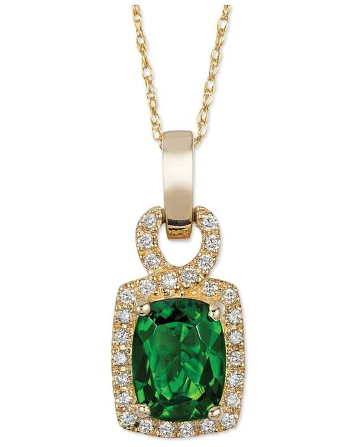Le Vian | Metallic Chrome Diopside (1-1/3 Ct. T.w.) And Diamond (1/8 Ct. T.w.) Pendant Necklace In 14k Gold | Lyst