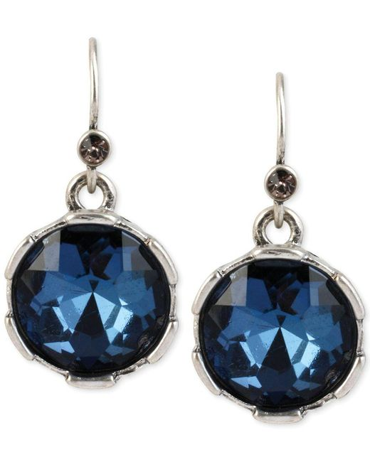 Kenneth Cole | Blue Faceted Round Bead Drop Earrings | Lyst