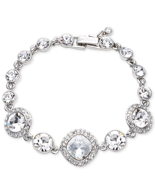 Givenchy | Blue Rhodium-plated Crystal Flex Bracelet | Lyst
