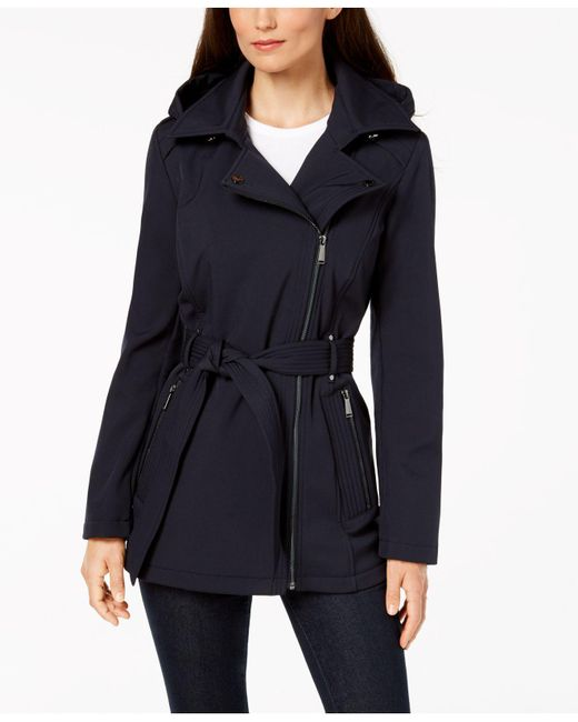 BCBGeneration - Blue Asymmetrical Raincoat - Lyst