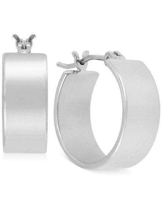 Kenneth Cole | Metallic Silver-tone Small Hoop Earrings | Lyst