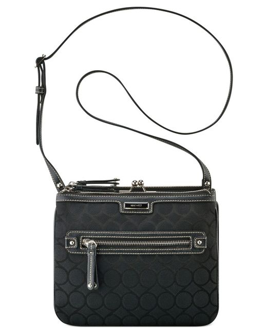 Nine West | Black 9's Jacquard Crossbody | Lyst