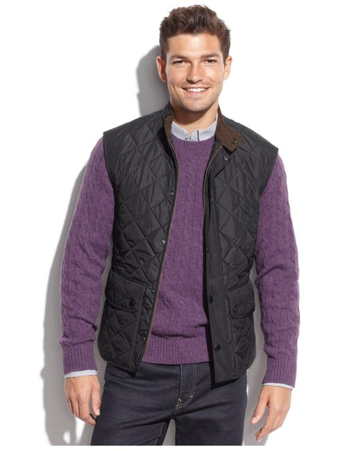 Barbour | Blue Lowerdale Quilted Vest for Men | Lyst