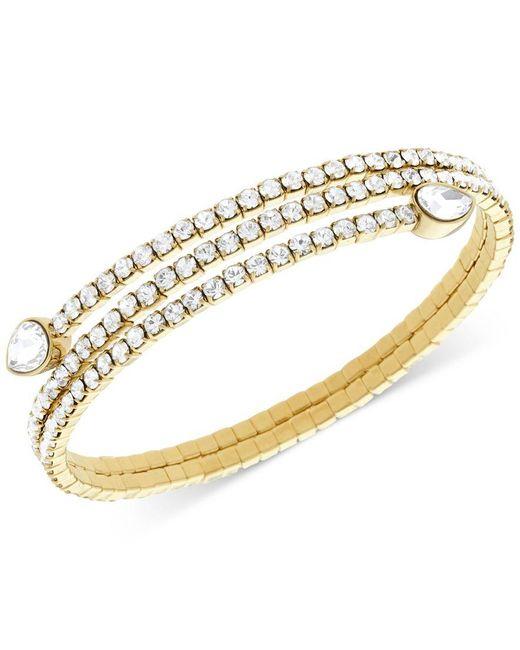 Swarovski | Metallic Twisty Crystal Pear-shaped Bangle Bracelet | Lyst
