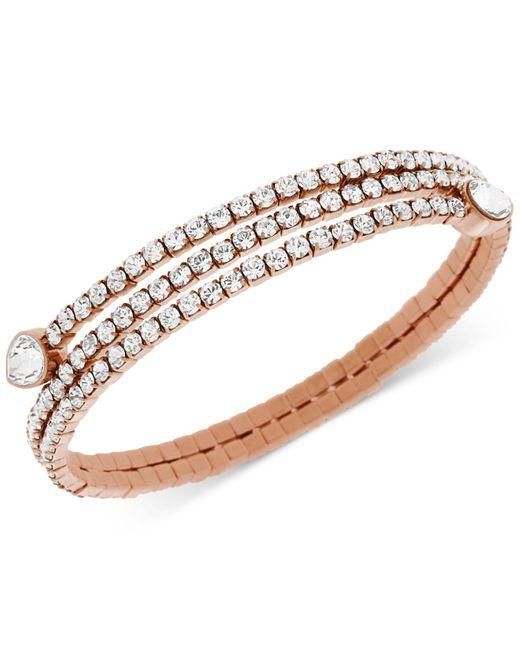 Swarovski   Pink Twisty Crystal Pear-shaped Bangle Bracelet   Lyst