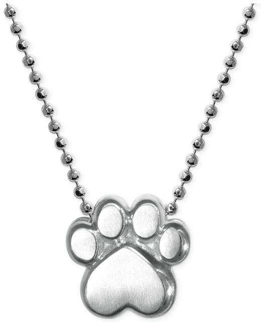 Alex Woo | Metallic Paw Pendant Necklace In Sterling Silver | Lyst