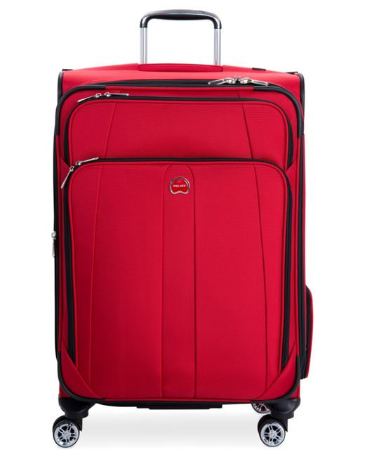 "Delsey | Red Helium Breeze 5.0 25"" Spinner Suitcase for Men 