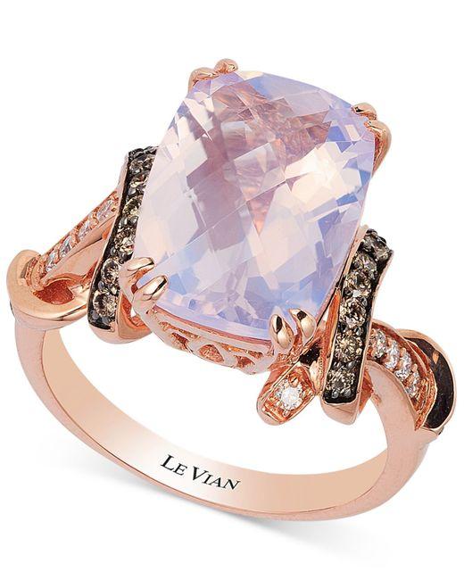 Le Vian   Purple Lavender Quartz (5-1/10 Ct. T.w.) And Diamond (1/3 Ct. T.w.) Ring In 14k Rose Gold   Lyst