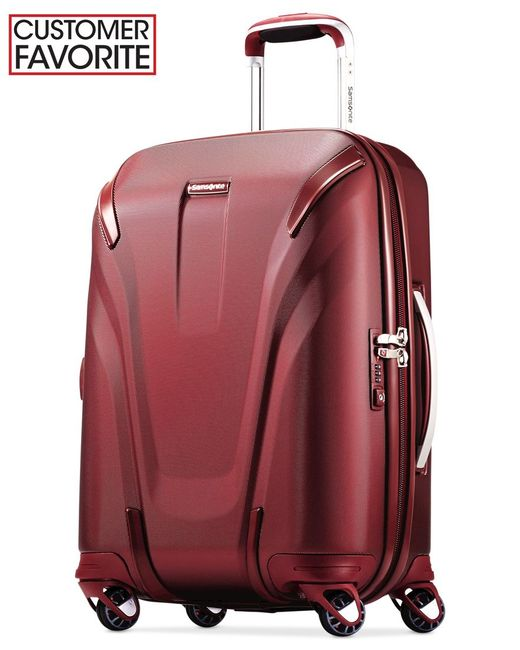 "Samsonite | Closeout! Silhouette Sphere 2 Hardside 22"" Carry-on Spinner Suitcase, Available In Ruby Red, A Macy's Exclusive Color 
