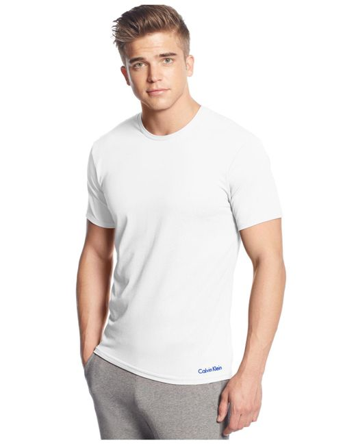 Calvin Klein   White Air Crew Neck T-shirt for Men   Lyst