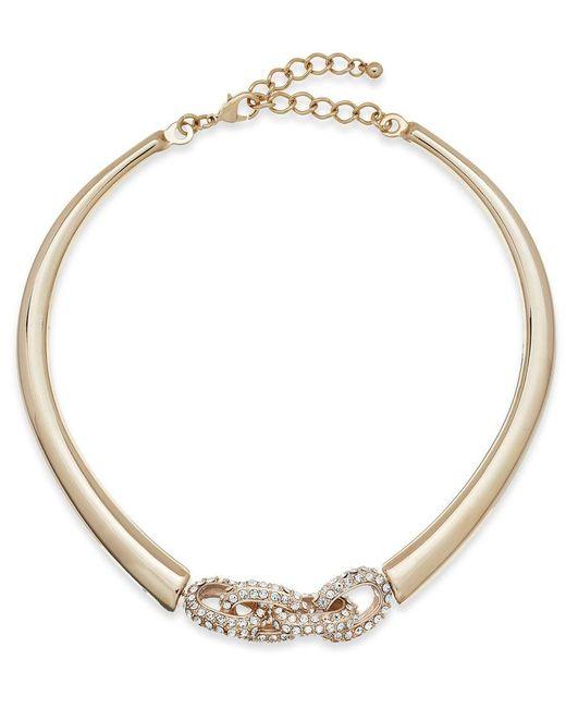 INC International Concepts | Metallic Crystal Link Collar Necklace | Lyst