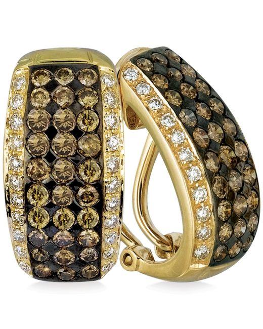 Le Vian | Metallic Diamond Five-row Leverback Earrings In 14k Gold (2 Ct. T.w.) | Lyst