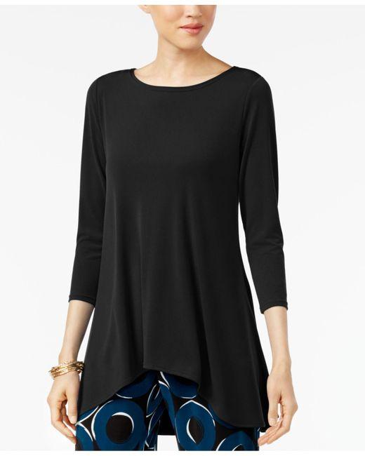Alfani - Black High-low Jersey Tunic Top - Lyst