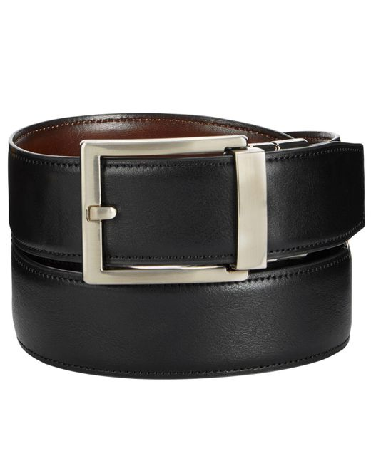 Alfani - Black Reversible Faux-leather Compression Belt, Created For Macy's for Men - Lyst
