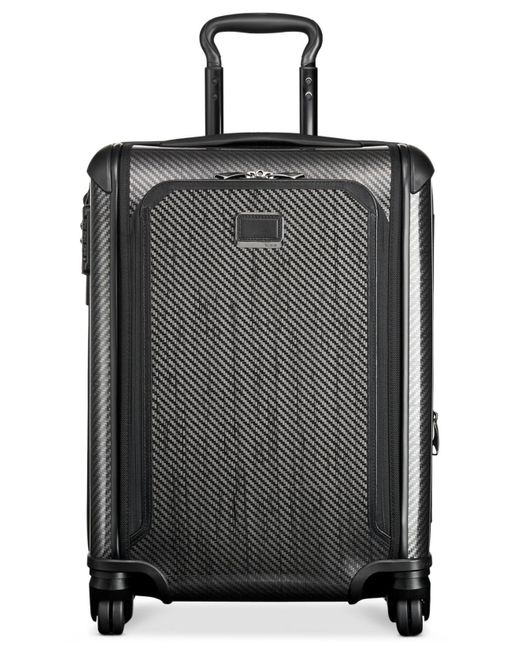 "Tumi | Black Tegra-lite Max 22"" Continental Carry On Expandable Spinner Suitcase for Men 