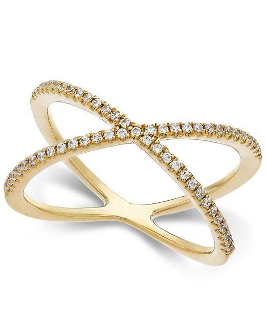Arabella   Yellow Swarovski Zirconia X-ring In 14k Gold   Lyst