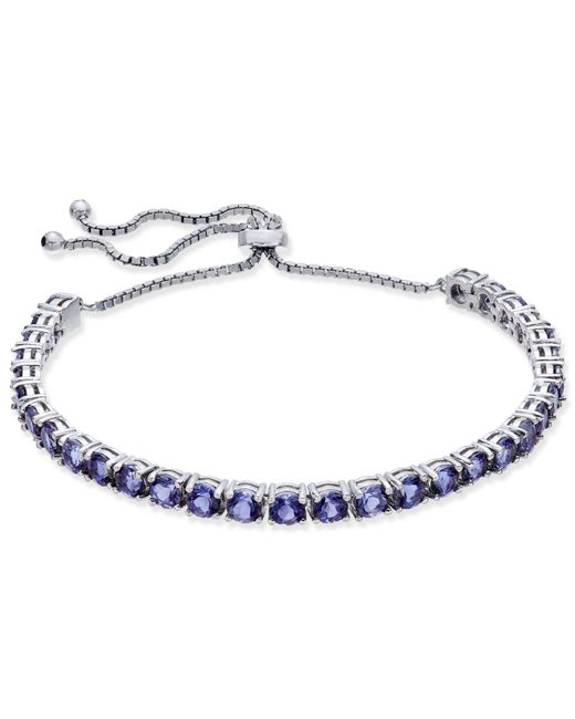 Macy's - Multicolor Iolite Slider Bracelet (5-1/2 Ct. T.w.) In Sterling Silver - Lyst