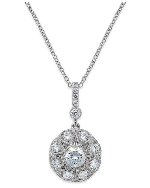 Marchesa | Metallic Antique Star By Certified Diamond Icon Pendant Necklace In 18k White Gold (1-3/8 Ct. T.w.) | Lyst