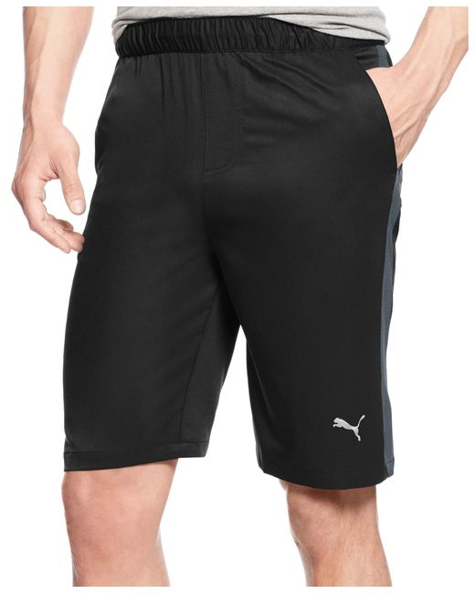 "PUMA | Black Men's 10"" Contrast-side Active Shorts for Men 