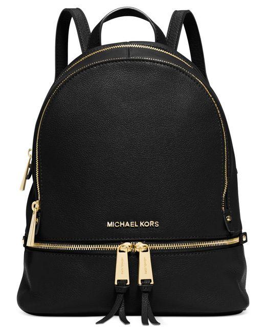 Michael Kors | Black Michael Rhea Zip Small Backpack | Lyst