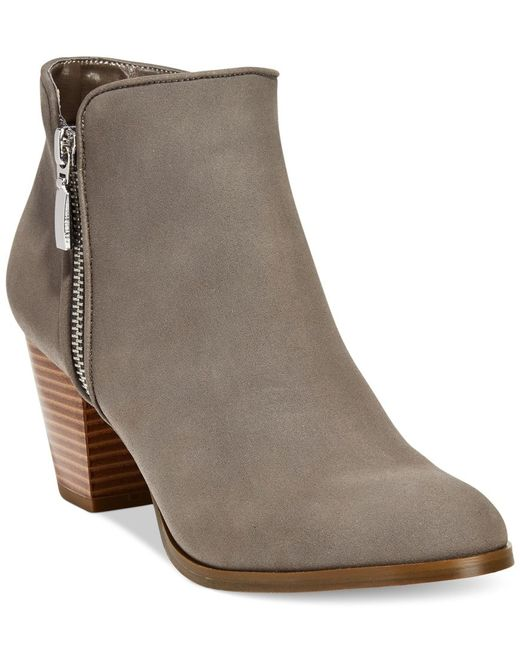Style & Co.   Gray Style& Co. Jamila Zip Booties, Only At Macy's   Lyst