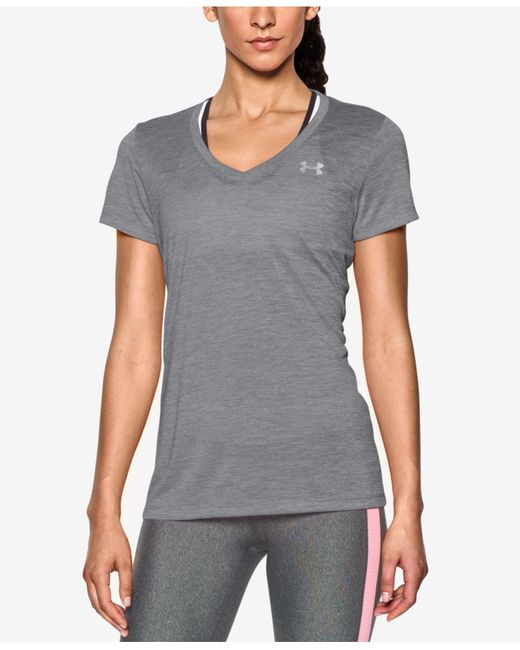 Under Armour | Black Under Amour Ua Tech Twist V-neck Tee | Lyst