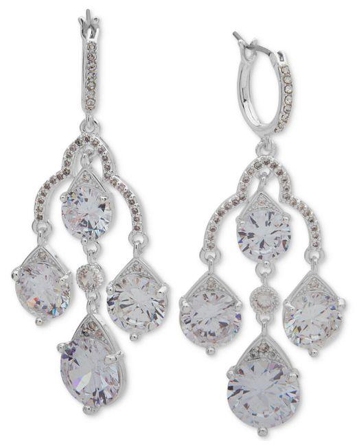 Anne Klein - Metallic Crystal Chandelier Earrings - Lyst