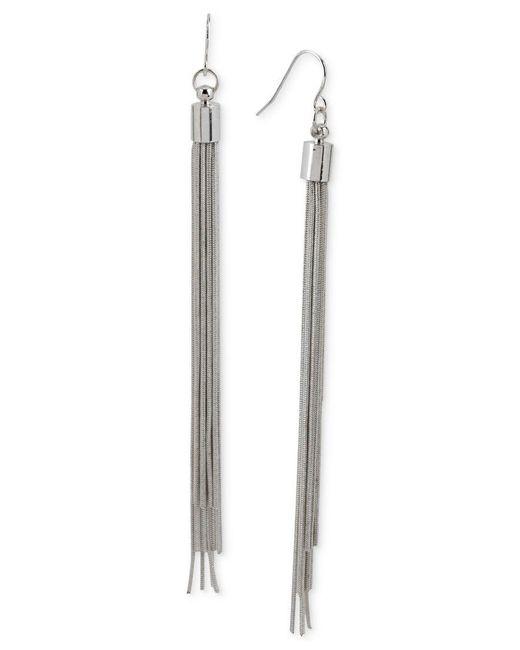 Kenneth Cole | Metallic Silver-tone Multi-chain Linear Earrings | Lyst