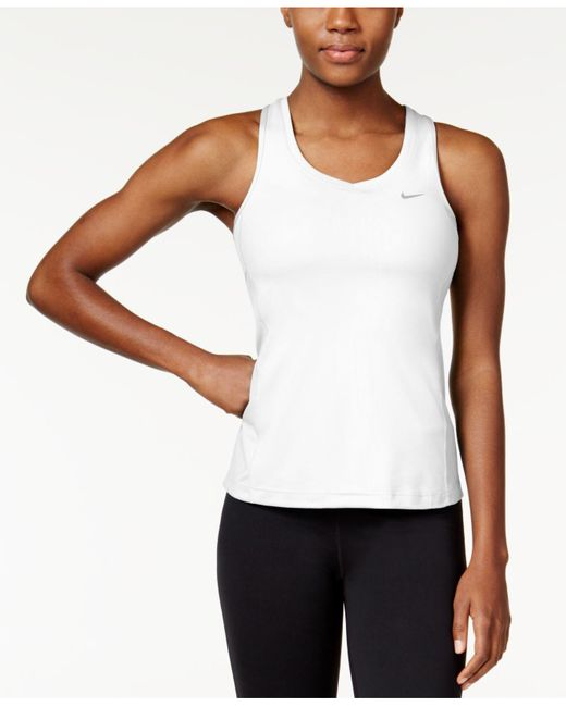 Nike | White Dri-fit Racerback Tank Top | Lyst