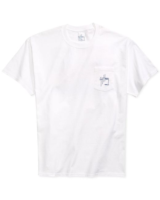 Guy Harvey | White Cruisin' Pocket T-shirt for Men | Lyst