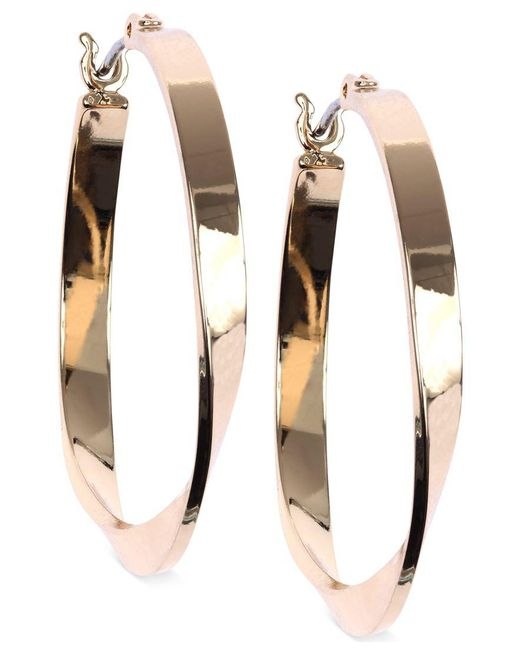 Nine West | Metallic Twisted Hoop Earrings | Lyst