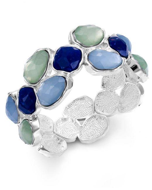 Charter Club   Multicolor Silver-tone Blue Stone Stretch Bracelet   Lyst