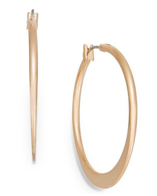Charter Club   Metallic Rose Gold-tone Hoop Earrings   Lyst