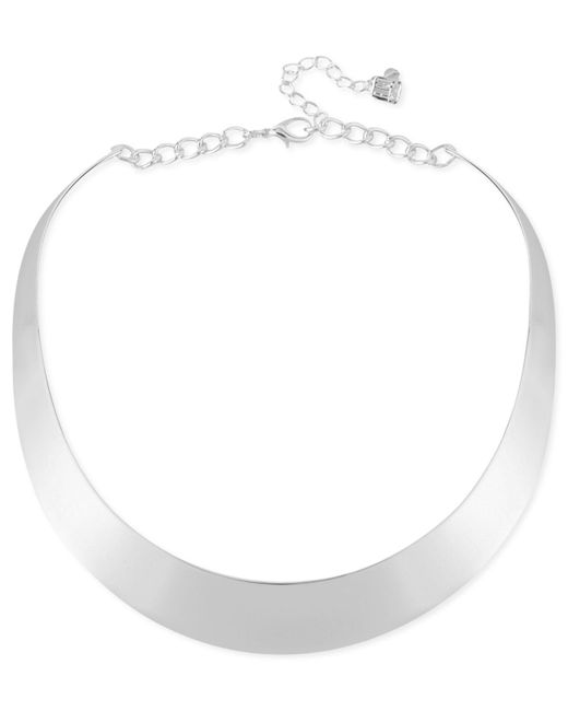 Robert Lee Morris - Metallic Necklace, Gold-tone Half-moon Collar Necklace - Lyst