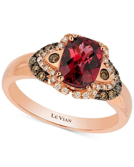 Le Vian | Red Raspberry Rhodolite Garnet (1-1/2 Ct. T.w.) And Diamond (1/5 Ct. T.w.) Ring In 14k Rose Gold | Lyst