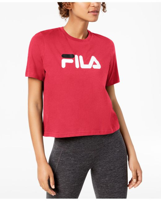 Fila - Red Miss Eagle Cotton T-shirt - Lyst