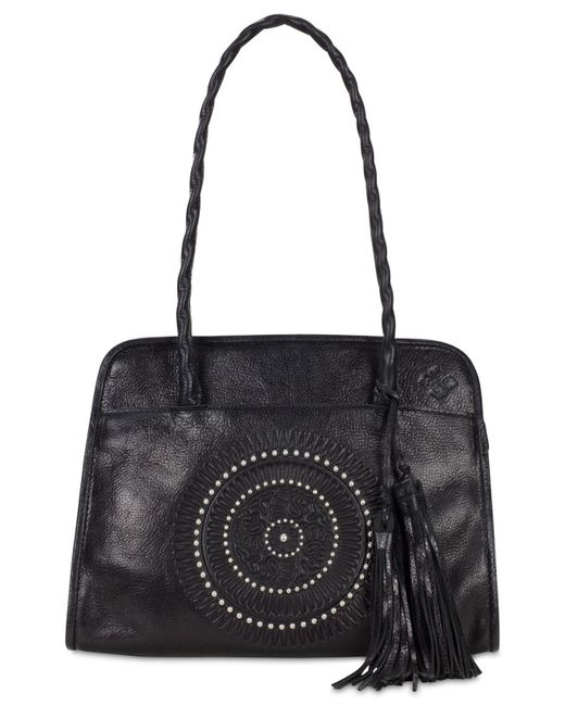 Patricia Nash | Black Distressed Vintage Paris Small Satchel | Lyst