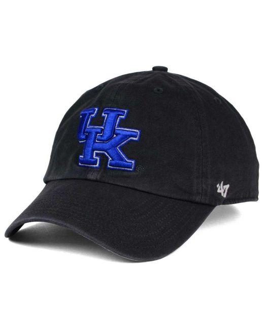 47 Brand - Black Kentucky Wildcats Clean-up Cap for Men - Lyst