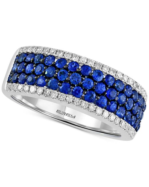 Effy Collection - Blue Final Call By Effy® Sapphire (1-1/8 Ct. T.w.) & Diamond (1/4 Ct. T.w.) Ring In 14k White Gold - Lyst